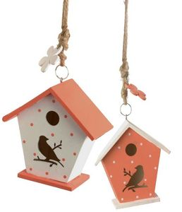 Amadeus - petit nichoir agrume en bois (lot de 2) - Maison D'oiseau