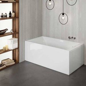 Grandform - bain slim edge hydro 170x70 hydromassage - blanc: matt matt - vers: droit - taps - Baignoire Balnéo