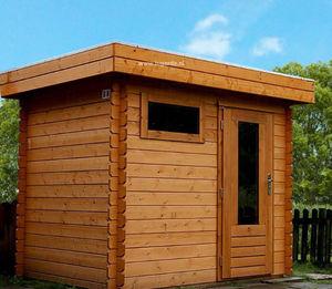 Lugarde - log cabin b1 - Abri De Jardin Bois