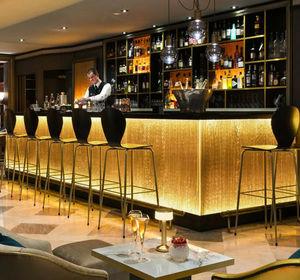 Dacryl - plissé cascade or - Comptoir De Bar Lumineux