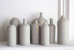 EPURE - sauge & or - Vase À Fleurs