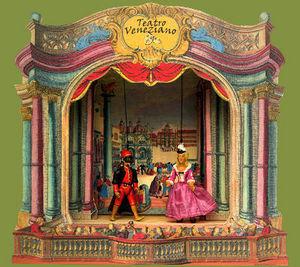 Sartoni Danilo Ravenna Italy - papier theater - Théâtre De Marionnettes