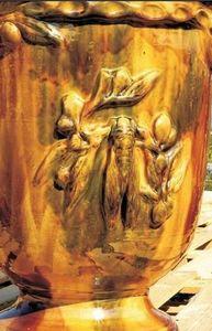 POTERIE TERRE FIGUIERE - cigale - Vase D'anduze