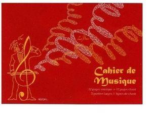 EDITIONS BOURGES -  - Cahier De Musique