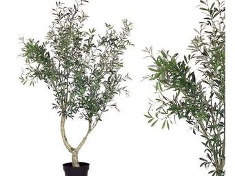 Deco Factory - olivier artificiel en pot - Arbre Artificiel