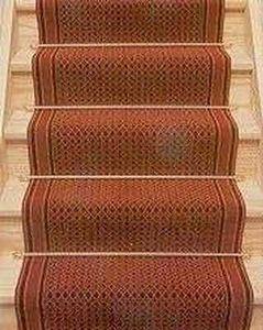 Moquettes Jules Flipo - cannage rouge/ envoll�e - Tapis D'escalier