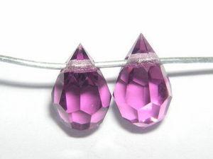 DCC - gouttes facettees cristal 6/10 mm : amet - Perles � Enfiler