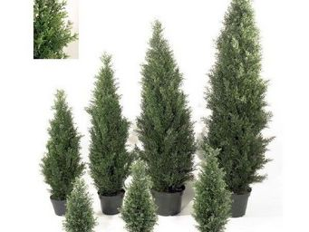 Deco Factory - cypr�s artificiel toscane en pot - Arbre Artificiel