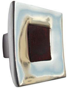 L'AGAPE - bouton de tiroir alu incrustation bois - Bouton De Tiroir