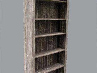 Lawrens - bibliothèque sur mesure parquet chuan - Bibliothèque Sur Mesure