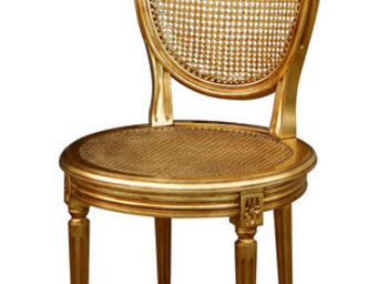 Gilles Nouailhac - chaise louis xvi m�daillon assise ronde - Chaise M�daillon