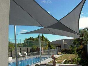 Mode-France - prete à poser triangle rectangle en gris - Voile D'ombrage