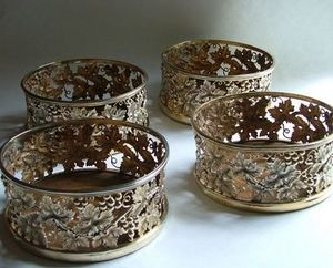 ALASTAIR DICKENSON - an impressive set of four regency coasters - Sous Verre