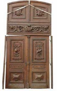GALERIE MARC MAISON - oak 19th century double door - Porte Ancienne