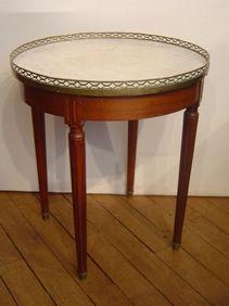 Courcelles Antiquités - gueridon bouillotte - Table Bouillotte