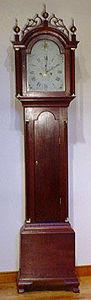 KIRTLAND H. CRUMP - cherry federal tall case clock made by silas parso - Horloge Sur Pied