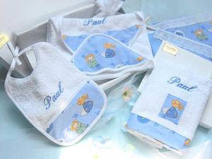 Organda Creation - le kit baldery bleu - Bavoir