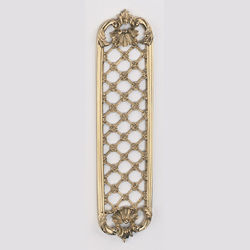 Brassart - louis xv decorative finger plate - Plaque De Poign�e De Porte