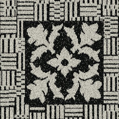 Interface Europe - black and white ink blot - Dalle De Moquette