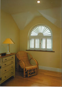 The House Of Shutters - shaped shutters, fan tops & rake designs... - Volet Battant Persienne