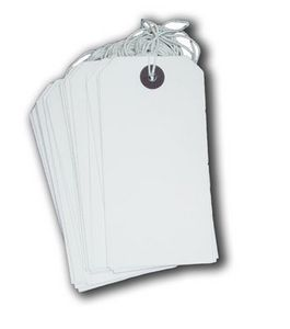 The English Stamp Company - gifts tags - pack of 25 white - Etiquette Décorative