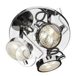 Dar Lighting - eagle 3lt 3w led plate pol chr - Plafonnier