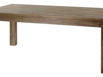 MEUBLES ZAGO - table teck grisé cosmos 160 cm - Table De Repas Rectangulaire