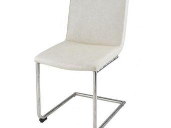 MEUBLES ZAGO - chaise tokyo - lot de 4 - crème - Chaise