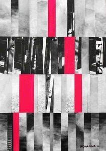 JOHANNA L COLLAGES - city 1 : fushia touch 60x80 cm - Tableau Décoratif