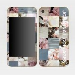 JOHANNA L COLLAGES - skins iphone 4 - Coque De T�l�phone Portable