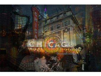 Magel'design - chicago theater 120x80 cm , 3d, effet relief - Tableau Contemporain