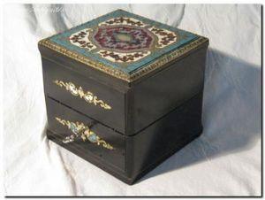 Art & Antiques - coffret � senteur carr� xixe - Coffret � Parfum