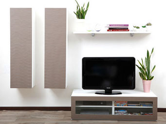 Miliboo - symbiosis compo 11 structure blanche - Meuble Tv Hi Fi