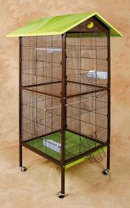 ZOLUX - volière yin yang en métal 78x74,5x167cm - Cage À Oiseaux