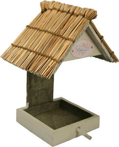 ZOLUX - mangeoire pour oiseaux cottage en bois et paille d - Maison D'oiseau