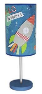 Art et Loupiote - fusée - Lampe À Poser Enfant