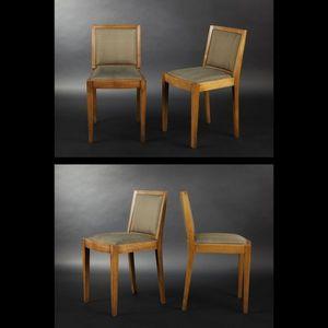 Expertissim - paire de chaises en chene massif - Chaise
