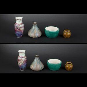 Expertissim - quatre petits vases en céramique - Vase Décoratif