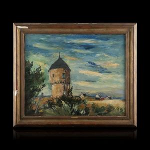 Expertissim - anders osterlind. moulin et maison - Paysage