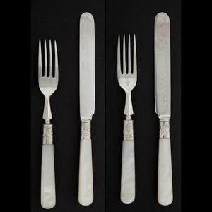 Expertissim - douze fourchettes et douze couteaux � dessert en m - Couverts � Dessert