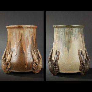 Expertissim - denbac. paire de vases à décor d'écrevisses - Vase Décoratif