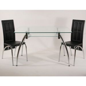 Smart Boutique Design - table en verre rectangle spider ii 120 x 75 cm ave - Table De Repas Rectangulaire