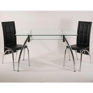 Smart Boutique Design - table en verre rectangle spider ii 120 x 75 cm ave - Table De Repas Rectangulaire