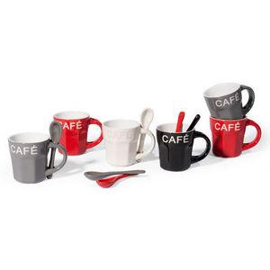 Maisons du monde - coffret 6 tasses et cuill�res loft - Tasse � Caf�