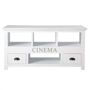 Maisons du monde - meuble tv blanc newpor - Meuble Tv Hi Fi