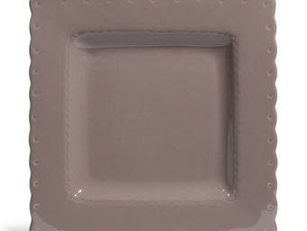 Maisons du monde - assiette plate gastronome taupe - Assiette Plate