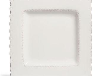 Maisons du monde - assiette plate gastronome ivoire - Assiette Plate