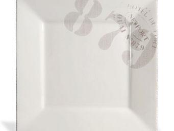Maisons du monde - assiette plate ouessant blanc - Assiette Plate