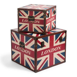 Maisons du monde - set de 2 malles london flag box - Malle