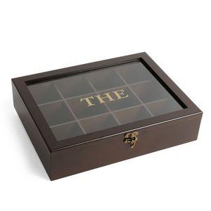 Maisons du monde - boîte à thé marron acajo - Coffret À Thé
